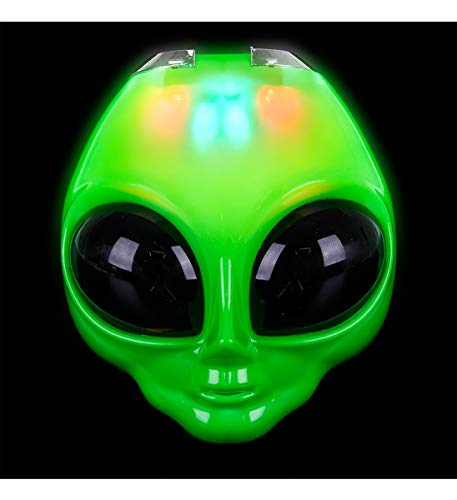 Rhode Island Novelty LED Light-Up Flip Green Alien Space Costume Mask