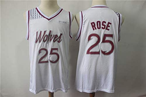 the best attitude 3f702 dbcdd Derrick Rose No.25 Minnesota Timberwolves Sports Vintage ...