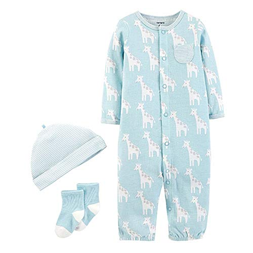 Convertible Gown Set (Carter's Giraffe 3pc. Convertible Gown Set Blue, Newborn)