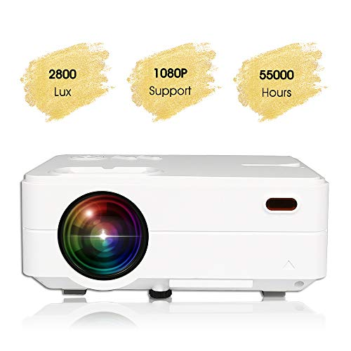 KATA(Upgraded Version) Portable Multimedia 4-inch LCD TFT Video Projector Supports 120'' 720P/1080P,360-Degree Image Flip,40,000 Hrs LED Full HD Video Projector,Compatible with HDMI,USB,SD,VGA,AV