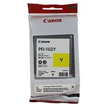 Canon imagePROGRAF iPF755 (PFI-102Y) Yellow Ink Cartridge (130 ML)