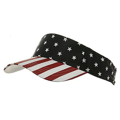 USA Flag Visor-USA Star Stripe OSFM