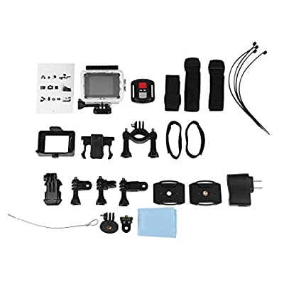 4K Remote Control Waterproof Digital Motion Camera Ultra HD Cam Outdoor DV Camcorder 2 inch SJ8000R WiFi Sports Action Camera - White