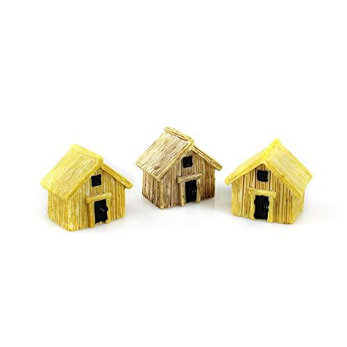 Danmu 3pcs Miniature House, Miniature Figurines, Fairy Garden Accessories, Fairy Garden Supplies, Fairy Garden Animals for Fairy Garden, Micro Landscape, Plant Pots, Bonsai Craft Decor