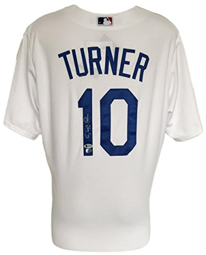 Justin Turner Signed Los Angeles Dodgers Majestic Baseball Jersey BAS ()