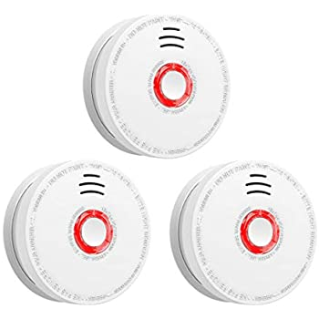 Smoke Detector and Fire Alarm, 3 Packs Photoelectric Smoke ...