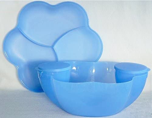 Tupperware Chip N Dip Serving Center Set in Mixed Berry 6 pieces