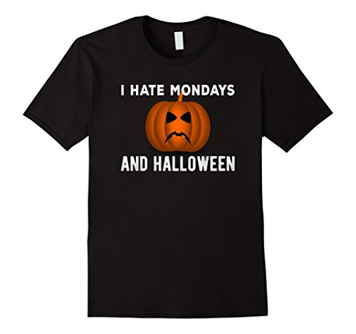 Mens I Hate Mondays And Halloween T-Shirt Large (Hates Halloween)
