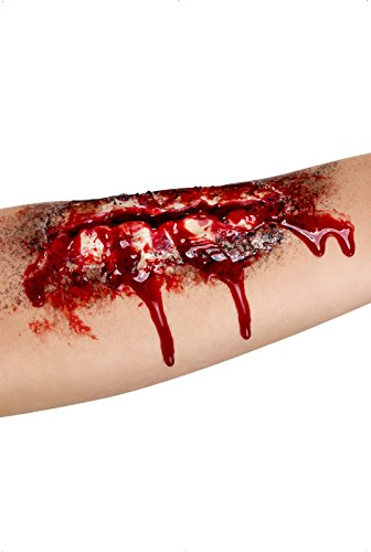 Adhesive Rubber Open Wound (Latex Wounds Halloween Uk)