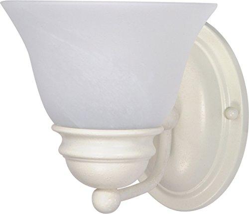 (Nuvo Lighting 60/352 One Light Vanity Textured White/Alabaster Glass)