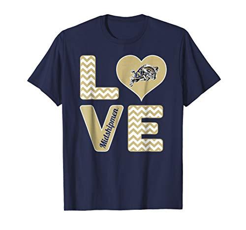 (Navy Midshipmen Stacked Love T-Shirt - Apparel)