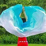 KIKIGOAL Women's 100% Silk Belly Dance Veils and