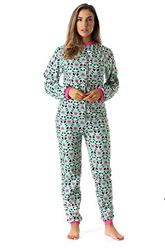 Just Love Printed Flannel Adult Onesie/Pajamas, Panda Love, XX-Large (Printed Flannel)