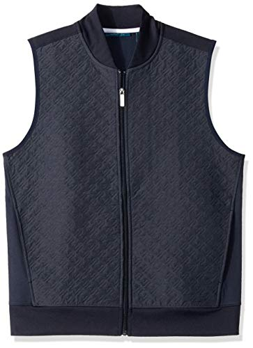 Perry Ellis Men's Quilted Zip-Front Vest, Dark Sapphire/DFK Extra Large ()