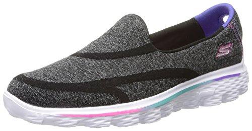 Skechers Go Walk 2 - Super Sock - Zapatillas de deporte para niñas Black