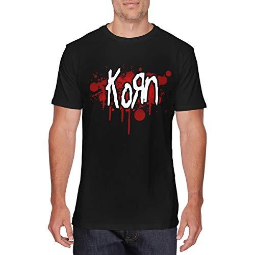 - YouNood Mens Vintage Korn Logo Tshirt 6XL Black