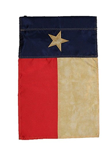 (ALBATROS 12 in x 18 in Embroidered Texas Tea Stained Vintage Nylon Sleeved Garden Flag for Home and Parades, Official Party, All Weather Indoors Outdoors)