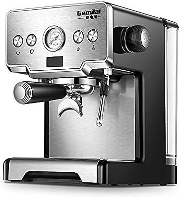 YUANYUAN520 Włoski Ekspres Do Kawy Dla Domu 15 Bar Pary Ze Stali Nierdzewnej Półautomatyczne Mleko Bańka Kawiarka Do Espresso Handlowych: Amazon.es: Hogar