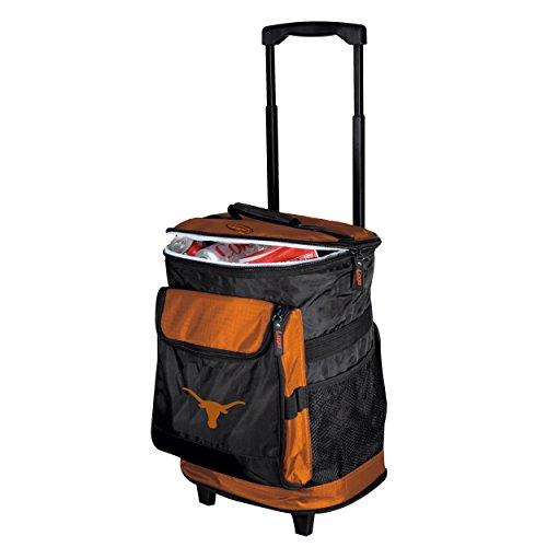 Longhorn Handles - Logo Brands 218-57 NCAA  Texas Longhorns Rolling Cooler