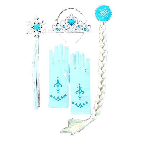 DailyProposal 6 Pieces Pack Elsa & Anna Disney Frozen Princess Accessory USA (Elsa Snowflake Wand)