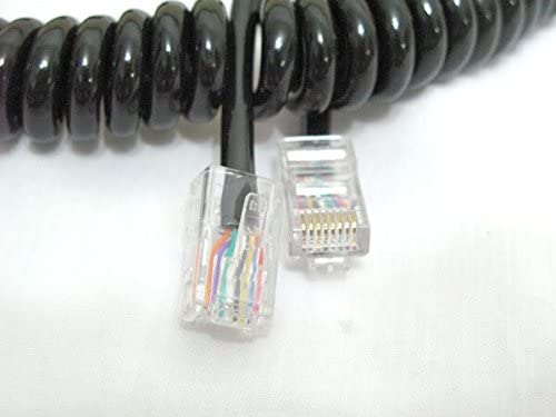2pcs ICOM Speaker Mics Cable for HM-98 HM-133 HM-133V as OPC-1153