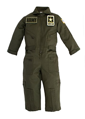 Army Aviator Youth Pilot Flight Suit With Patches Large