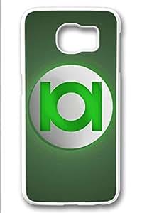 Samsung Galaxy S6 Case,White(PC)Hard Plastic Case For Samsung Galaxy S6[5.1 Inch](Case can be customized)Anti-Knock,Non-Slip,Ultra-thin case,Shock-Absorption Bumper-Green Lantern Logo 1