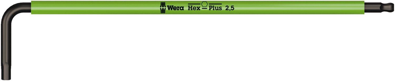 Wera 05022604001 Hex Key 950 SPKL Metric BlackLaser 2.5x112mm, Silver