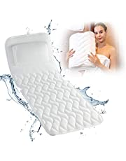 Bath Cushion for Tub - Extra-Large Full Body Bath Tub Pillow & Non-Slip Spa Bathtub Mat Mattress Pad with Super Thick Breathable 3D Mesh Layers - Great Back Support for Adults