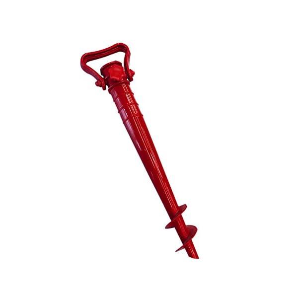 LOVIVER Supporto Ombrellone Holder 39 * 3.5cm per Spiaggia Mare Campeg Giardino - Rosso 1 spesavip
