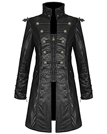 Veste simili cuir style officier