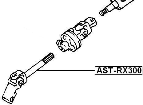 4520248020 Steering Sliding For Toyota Joint Assy-Universal 45202-48020