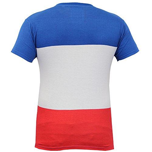Herren Kurzärmelig Gestreift T-shirts Von Soul Star - Blau - PRISSYPKB, L
