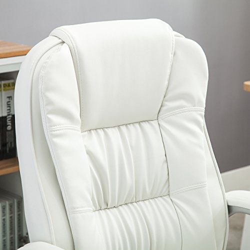 Belleze Ergonomic Office PU Leather Chair Executive Computer Hydraulic, White by Belleze (Image #6)