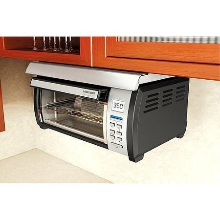 Energy efficient, Touch-button Control Panel Stainless and Spacemaker Toaster Oven, Black and Silver (Toaster Ovens Under Cabinet compare prices)