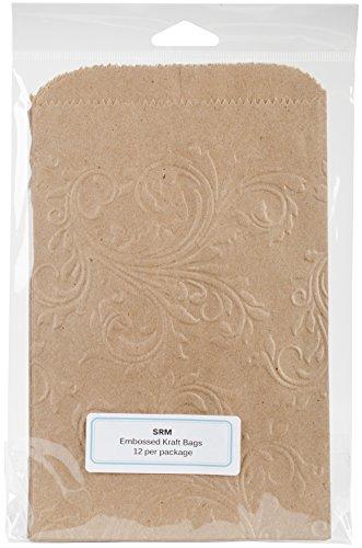 SRM Press 70005 Embossed Kraft Bags 5