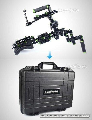 Lanparte scr-01 Rig con Top Grip, maleta de jaula con Follow Focus ...