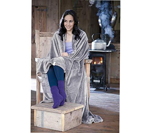 Beach Decor Premium Antique Plush Fleece Blanket, Antique Grey