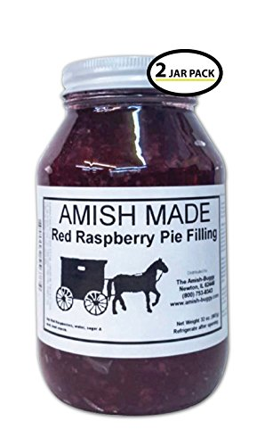 Amish Pie Filling Red Raspberry - TWO 32 Oz Jars