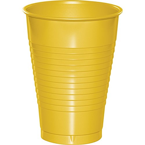 School Bus Yellow Plastic Cups 12 oz. Solid 240ct