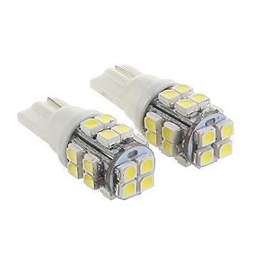 K-NVFA T10 20x3528SMD fresca Luz Blanca Bombilla LED para el coche (12V, 2 pcs) KK-V- 4314: Amazon.es: Electrónica