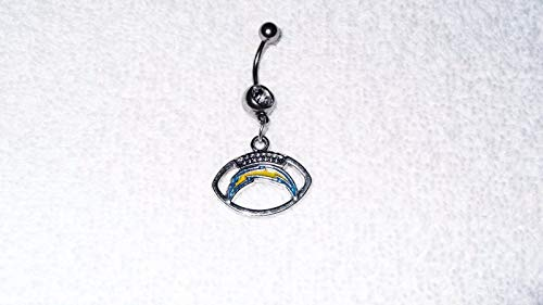 San Diego Chargers Team Football Charm Belly Navel Ring Body Jewelry Piercing #IS-607