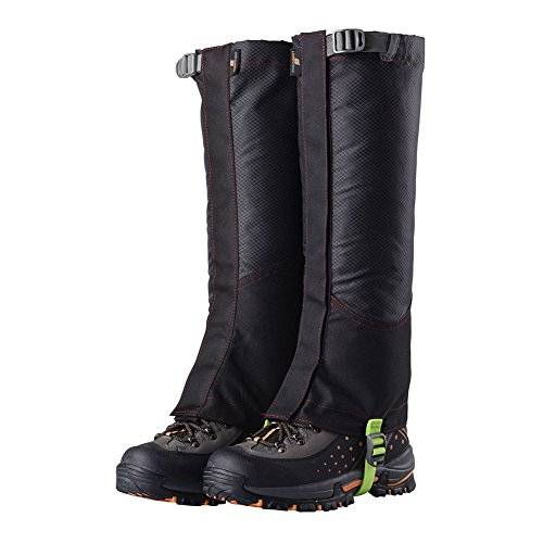 Riiya Waterproof Snow Boot Covers Gaiters Leg Cover Protective Shoes Spats for Hiking Walking Skiing Snowboarding