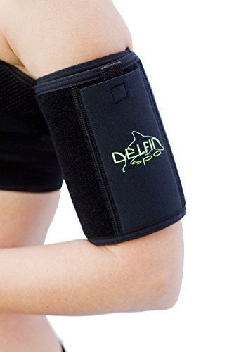 Oberarm-straffender Sport-Armband-Set mit Wärme-Effekt - aus Neopren mit Bio-Keramik Fasern, von Delfin Spa