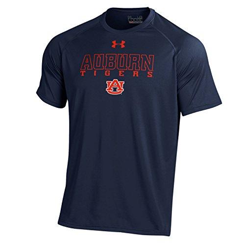 Under Armour NCAA Auburn Men's Short Sleeve Tech Tee, Navy, Large Auburn Under Armour