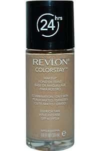 Revlon ColorStay Base de Maquillaje para Piel Mixta/Grasa, Bronceado Intenso - 30 ml
