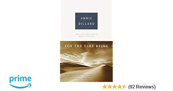 For The Time Being Annie Dillard 9780375703478 Amazon Books