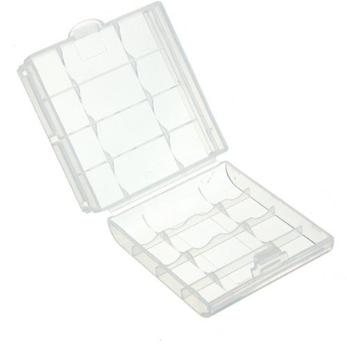 5Pcs Hard Plastic Case Holder Storage Box for AA / AAA Battery Clear