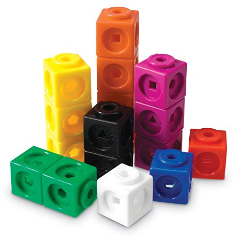 - Learning Resources Mathlink Cubes, Educational Counting Toy, Early Math Skills, Set of 100 Cubes