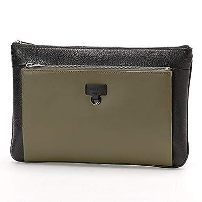 5ab0ad0f951b Amazon | フルラ(FURLA) ユリッセ クロスボディポーチ【ブラック×カーキH04/**】 | メンズバッグ・財布